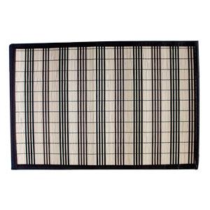 Mantel individual de bambú de 30x45cm negro y natural