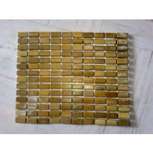 Mantel de cuadritos de bambú de 34x43 cm miel