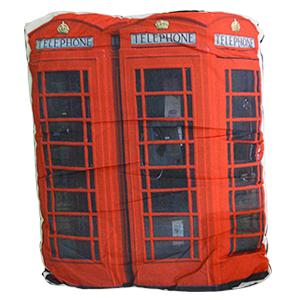 Cojín con estampado de Cabina Telefónica de Londres de 45x53cm