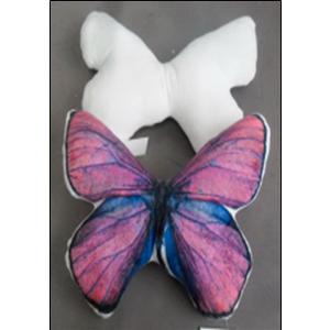 Cojín diseño Mariposa morada de 31x36.5cm