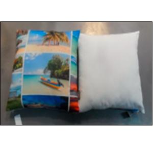 Cojín con estampado de fotos de playa de 45x45cm