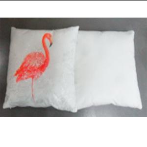 Cojín cuadrado diseño flamingo de 45x45cm