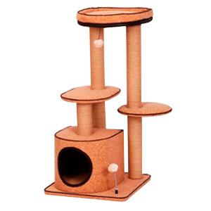 Casa para gatos con varios niveles y juguetes de 50x50x100cm