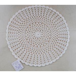 Mantel tejido blanco de 33cm