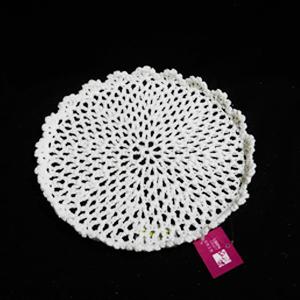 Charola tejido blanco de 29x2.5cm