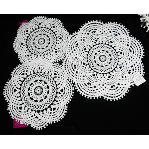 Mantel tejido blanco diseño estrella blanca de 36cm