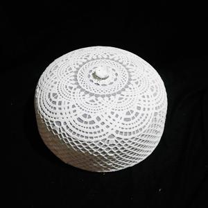 Tapa tejida blanca de 38x14cm