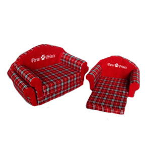 Sofá cama para mascota rojo