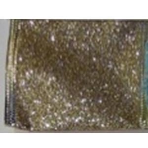 Rollo de Listón de gasa dorado de 6.35cmx10m