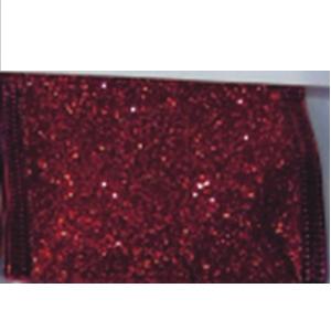 Rollo de Listón de gasa rojo de 6.35cmx10m