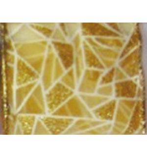 Rollo de listón de gasa diseño mosaico dorado de 6.35cmx10m