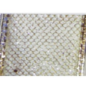 Rollo de listón de malla dorado de 6.35cmx10m