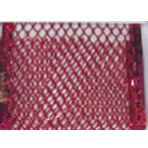 Rollo de listón de malla rojo de 6.35cmx10m