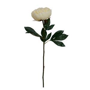 Vara con flor Penoy blanca