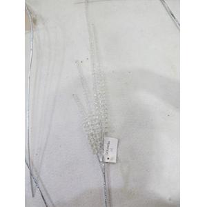Vara con cuentas de acrilico transparente de 81cm