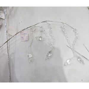 Vara con colgantes de diamante de acrilico transparente de 66cm