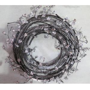 Corona de varas con cuentas transparentes de 35cm