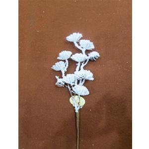 Vara con flores nevadas de 45cm