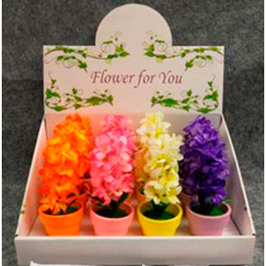Maceta con orquídeas en diferentes colores de 17cm