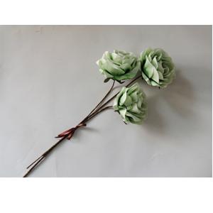 Vara de 3 rosas color verde de 89cm