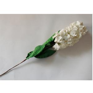 Vara de flores blancas con hojas verdes de 106cm