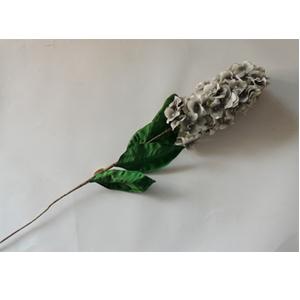 Vara de flores grises con hojas verdes de 106cm