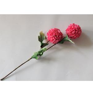 Vara con 2 flores rosas con hojas verdes de 87cm