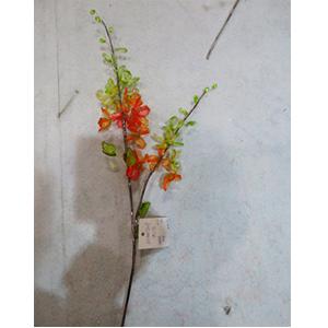 Vara de cuentas de acrilico verdes y naranjas de 68cm