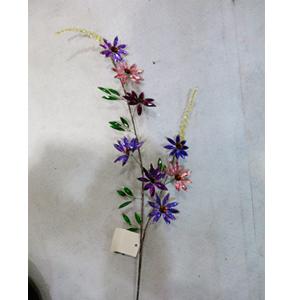 Vara de cuentas de acrilico de colores diseño flores de 93cm