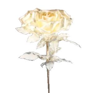 Vara con 3 rosas blancas gigantes  de 84x130cm