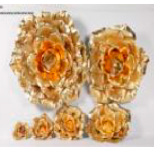Vara de Rosa dorada gigante de 70x155cm