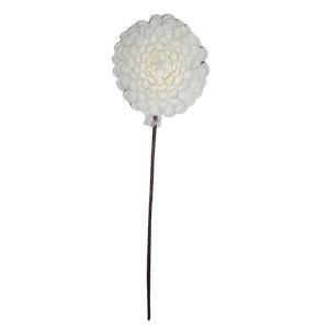Vara con flor exótica blanca de látex