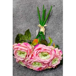 Ramo de Rosas color rosa con verde