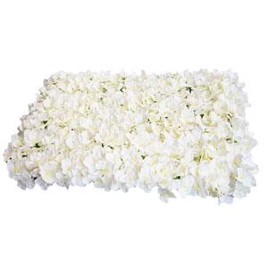 Tapete de flores blancas de 60x40cm