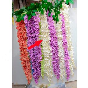Vara de flores blancas con caida