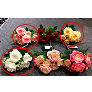 Guia de rosas blancas de 220 cm