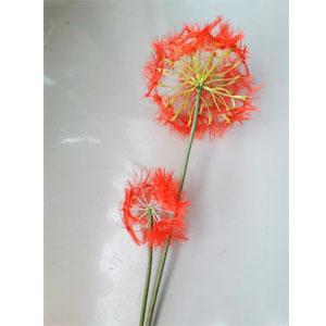 Vara con Flores diente de Leon rojas