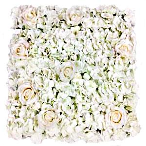 Tapete de rosas blancas de 50x50cm