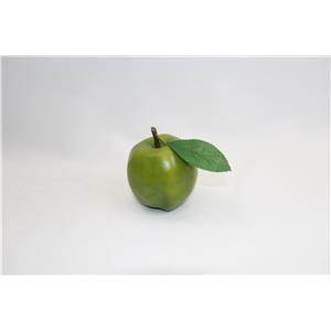 Manzana verde c/ hoja