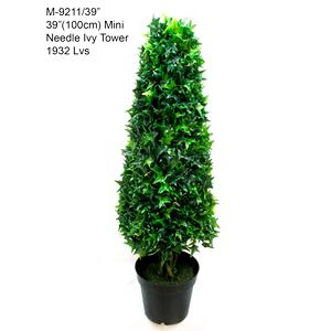 Topiario de hiedra triangular verde de 100cm