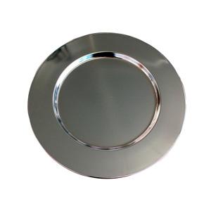 Plato de acero niquelado de 15.4cm
