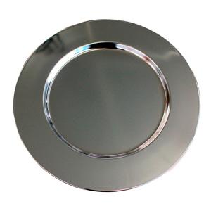 Plato de presentación de acero niquelado de 32.5cm