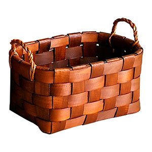 Canasta rectangular tejida natural de 43x31x27x34cm