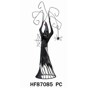 Decoracion de metal diseño fantasma de 37x17x94cm