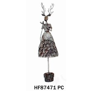 Venado con vestido de 28x17x115cm