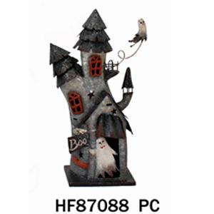 Decoracion de castillo con fantasma de 29x20x55cm