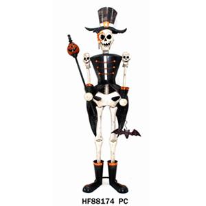 Esqueleto de metal con traje de 68x43x170cm