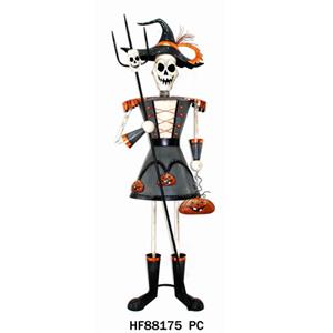 Esqueleto con falda y trinche de 63x40x143cm