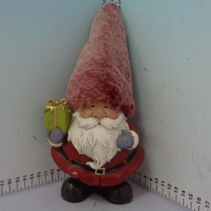 Santa rojo con gorro nevado de 12x10x27cm
