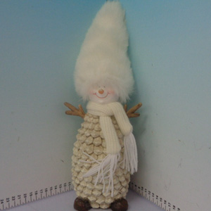 Muñeco de nieve diseño piña de 14x13x34cm